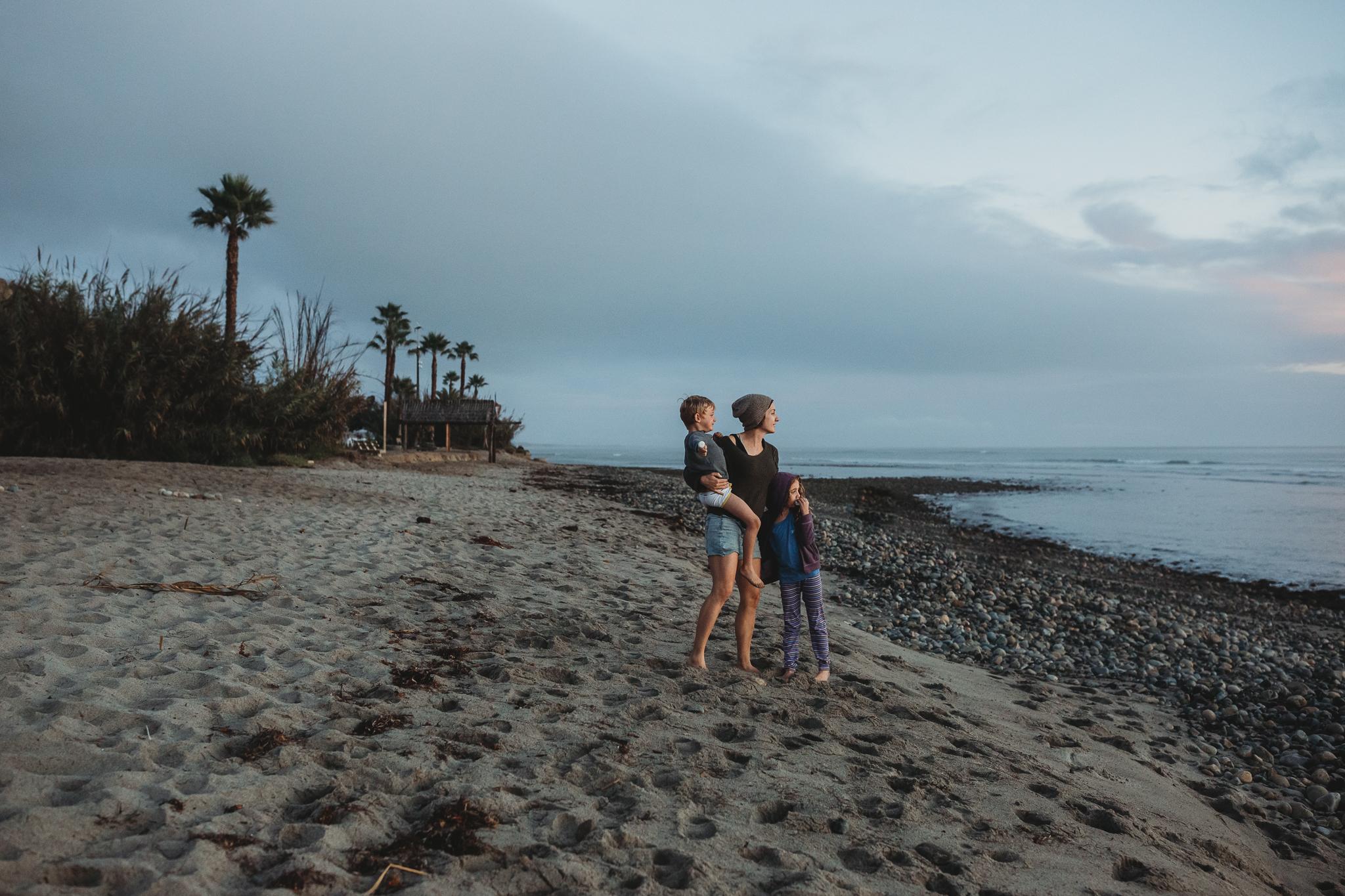 Self portrait: Spring break, post-divorce at our favorite beach