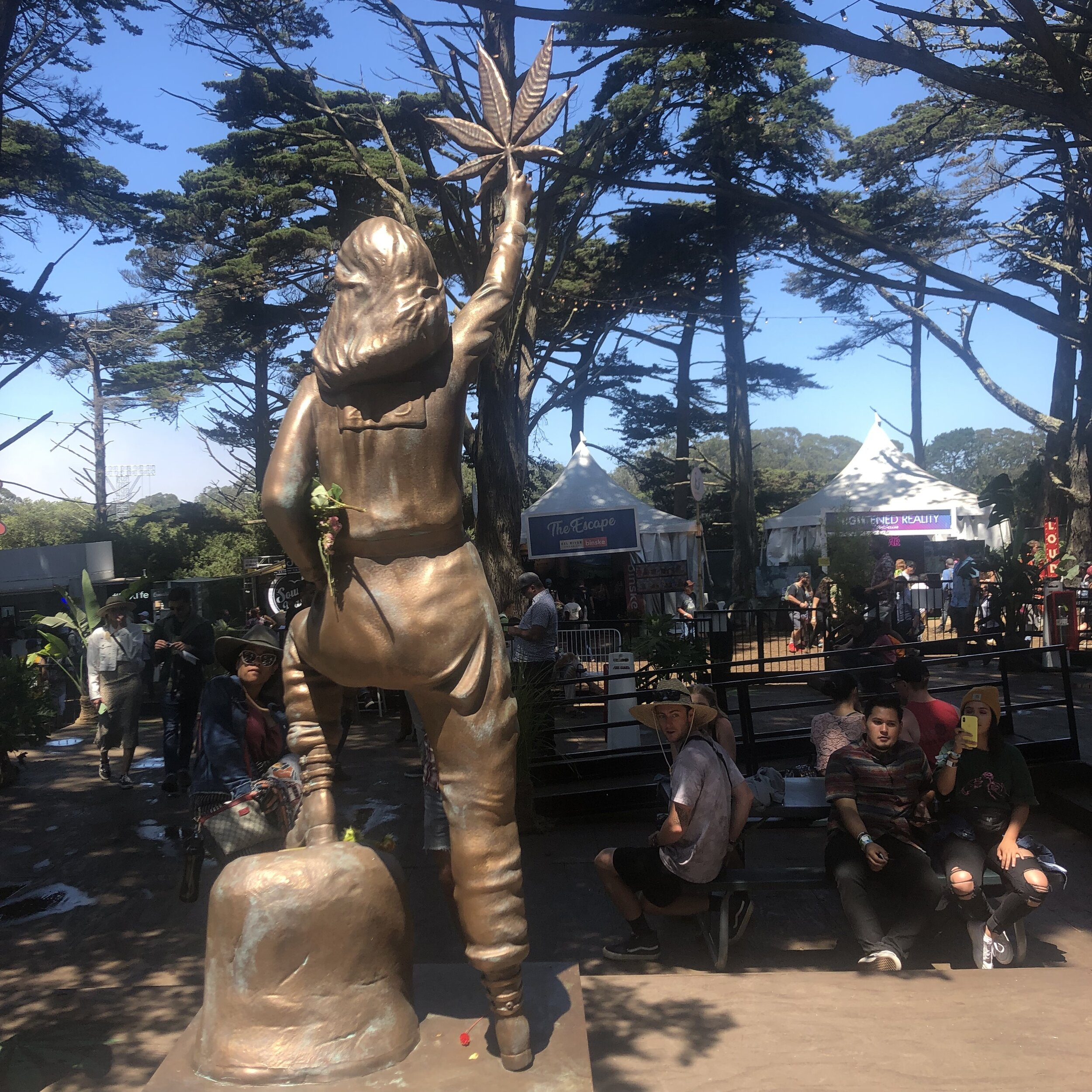 A statue of Mary Jane inside Grass Lands.