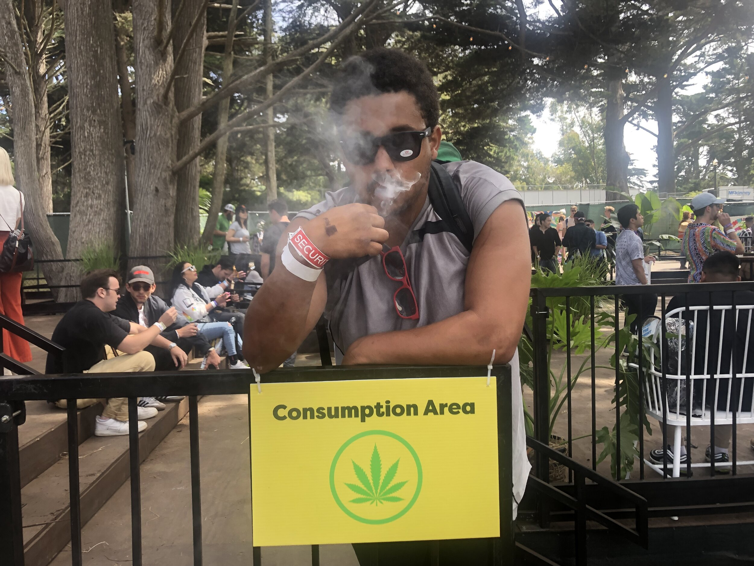 For the first time, Outside Lands attendees could purchase and consume cannabis inside the festival.