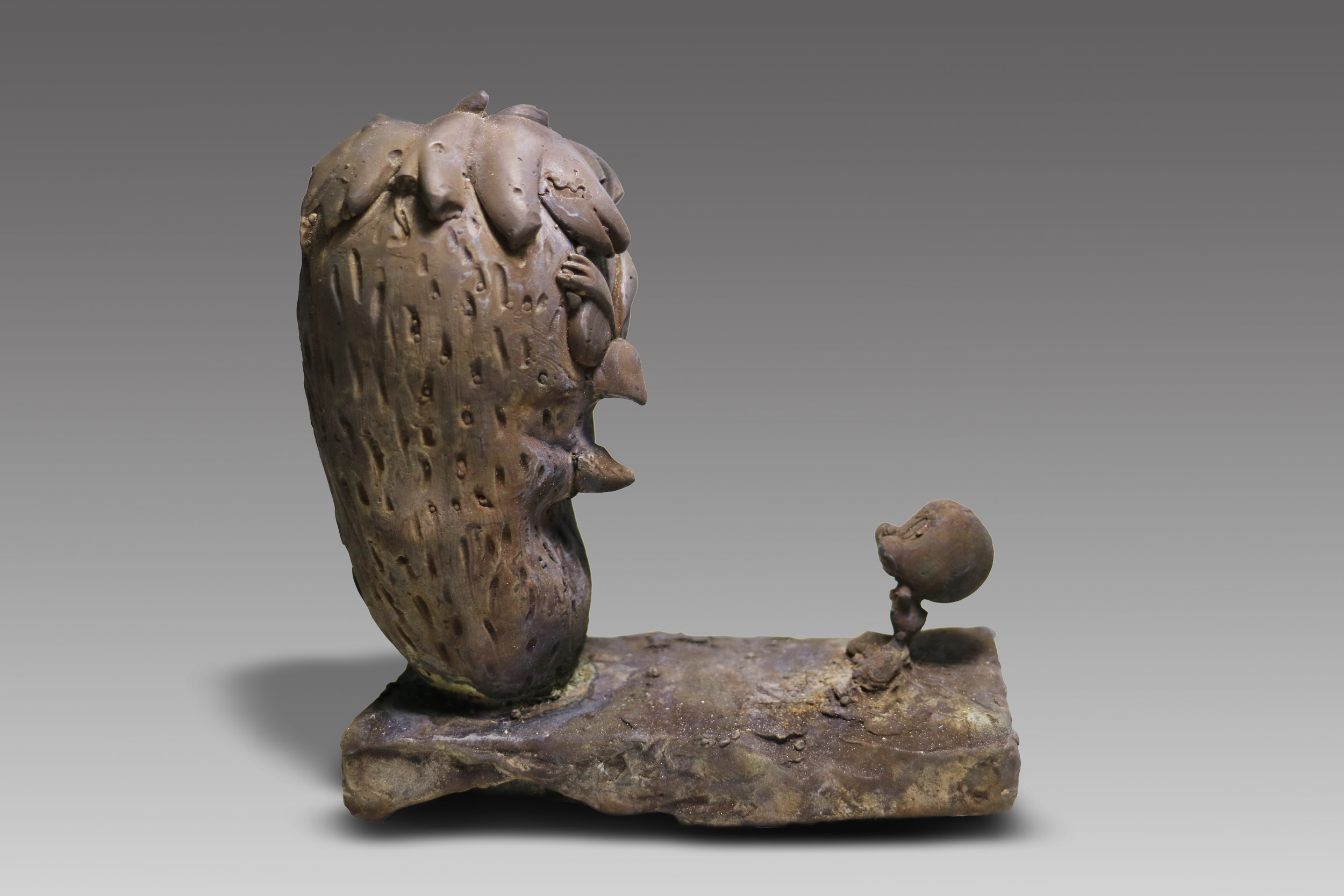 Tweety and Monster  Tweety Bird often depicted as a god, who had an alter ego without a name. This happened due to an accident, where Tweety fell into the Hyde Formula, which turned him in to a giant monster bird.  Middle Kingdom, 2040-1782 B.C.E.  Bronze  5 x 5 x 2.5