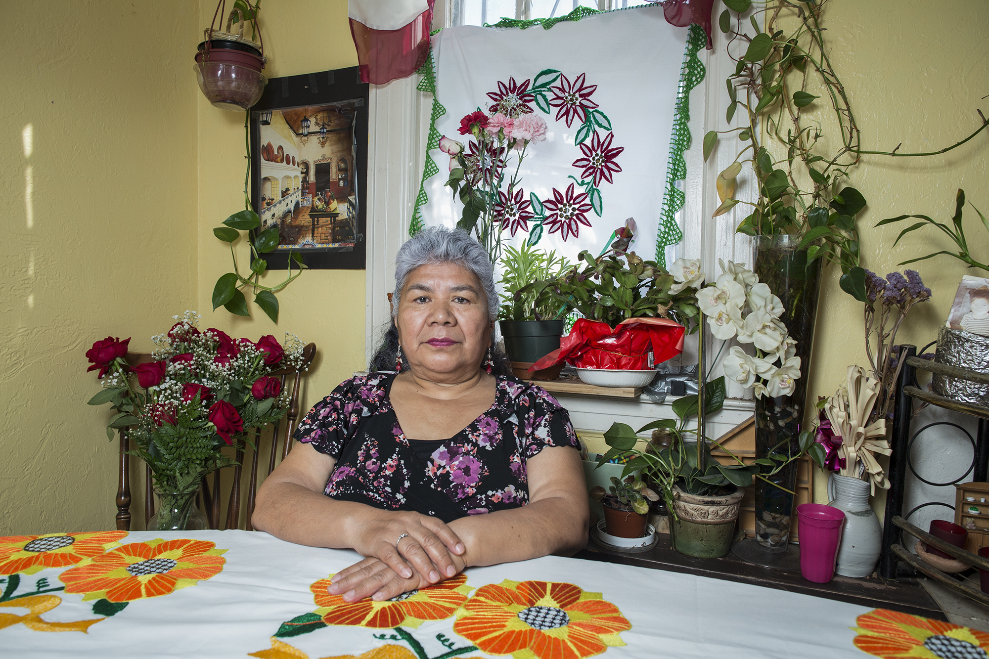 Honorina Moran is from Huajuapan de León, Oaxaca. She is 67 years old and lives in Long Island City, Queens, with her family. Honorina came to New York 12 years ago, crossing the Mexican border to reunite herself with her family because all of her daughters and grandchildren live in the United States.