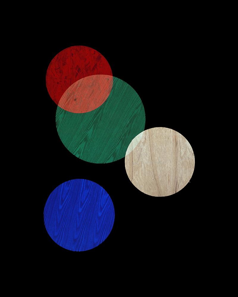 Alejandra Laviada,  Red, Blue, Green Circles,  2014