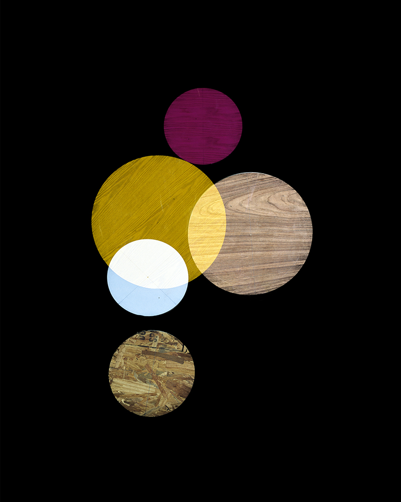 Alejandra Laviada,  Pink, Yellow, White Circles,  2014