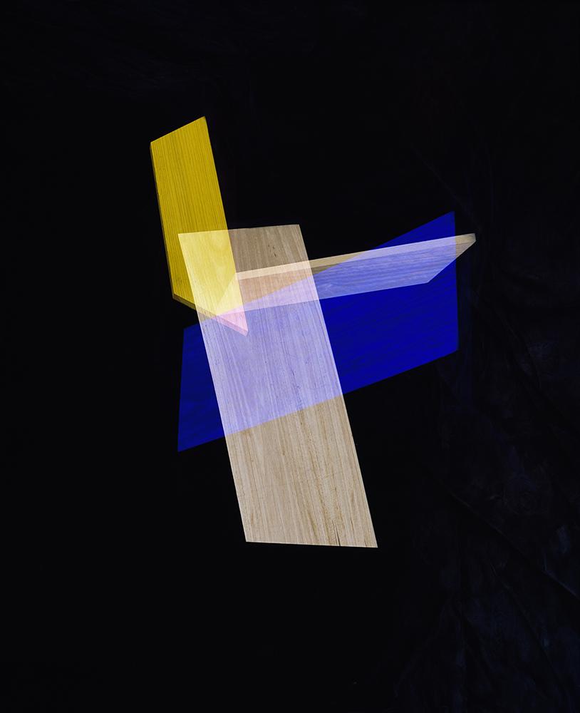 Alejandra Laviada,  Blue, Yellow Intersections,  2014
