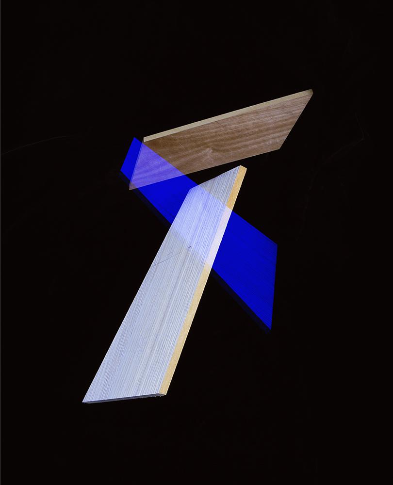 Alejandra Laviada,  Blue, White Composition,  2014