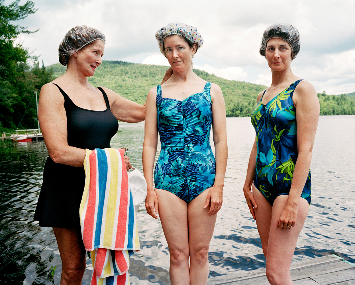 Sage Sohier,  Mum, Me, and Laine, Hewitt Lake, Minerva, NY,  2001