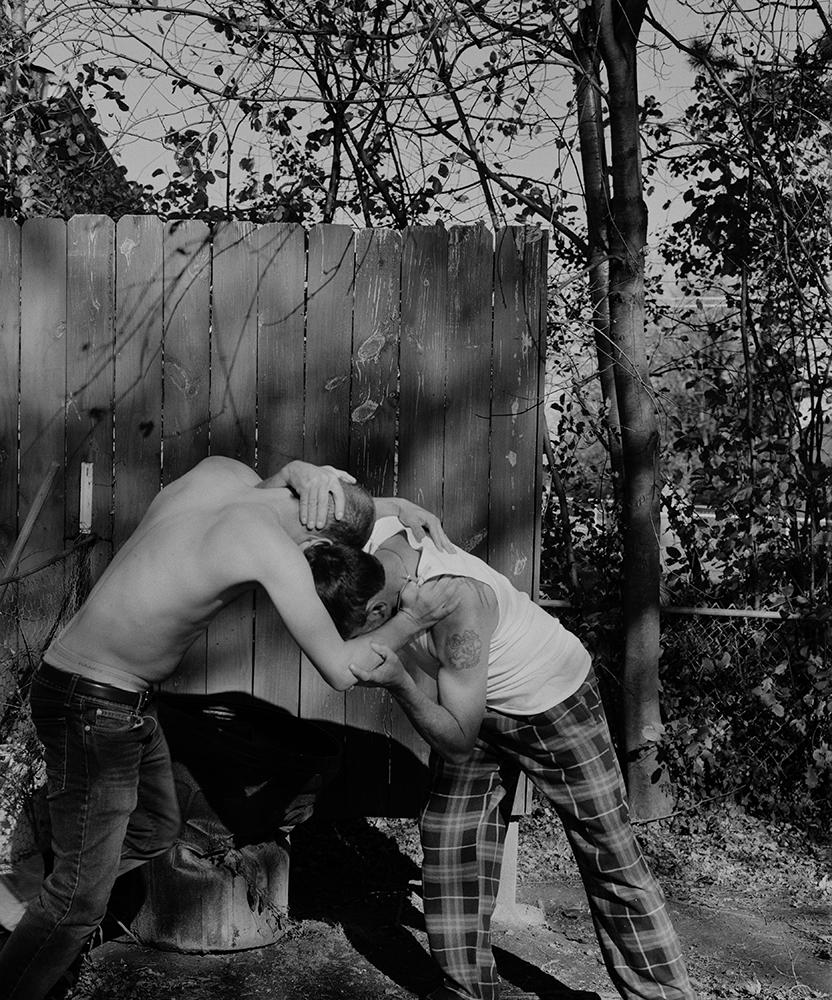 Matt Eich,  Wrestling with Jessie in the Backyard, Columbus, Ohio , 2015