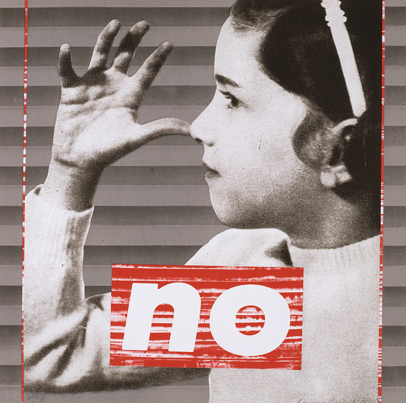 Barbara Kruger,  We Will No Longer Be Seen And Not Heard; No,  1985