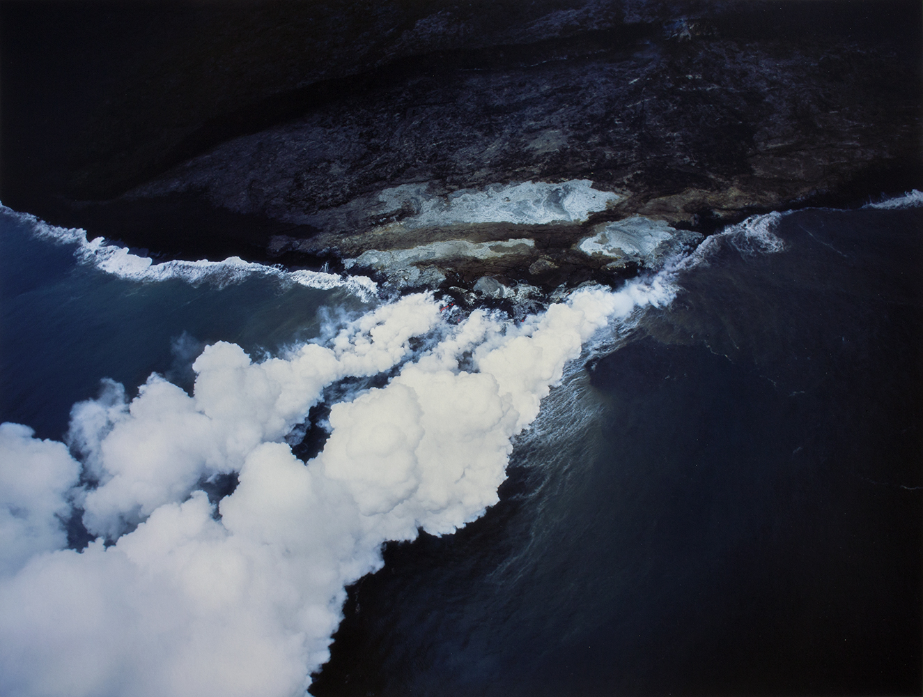 Terry Toedtemeier,  Lava Steam Plumes, HI , 2006