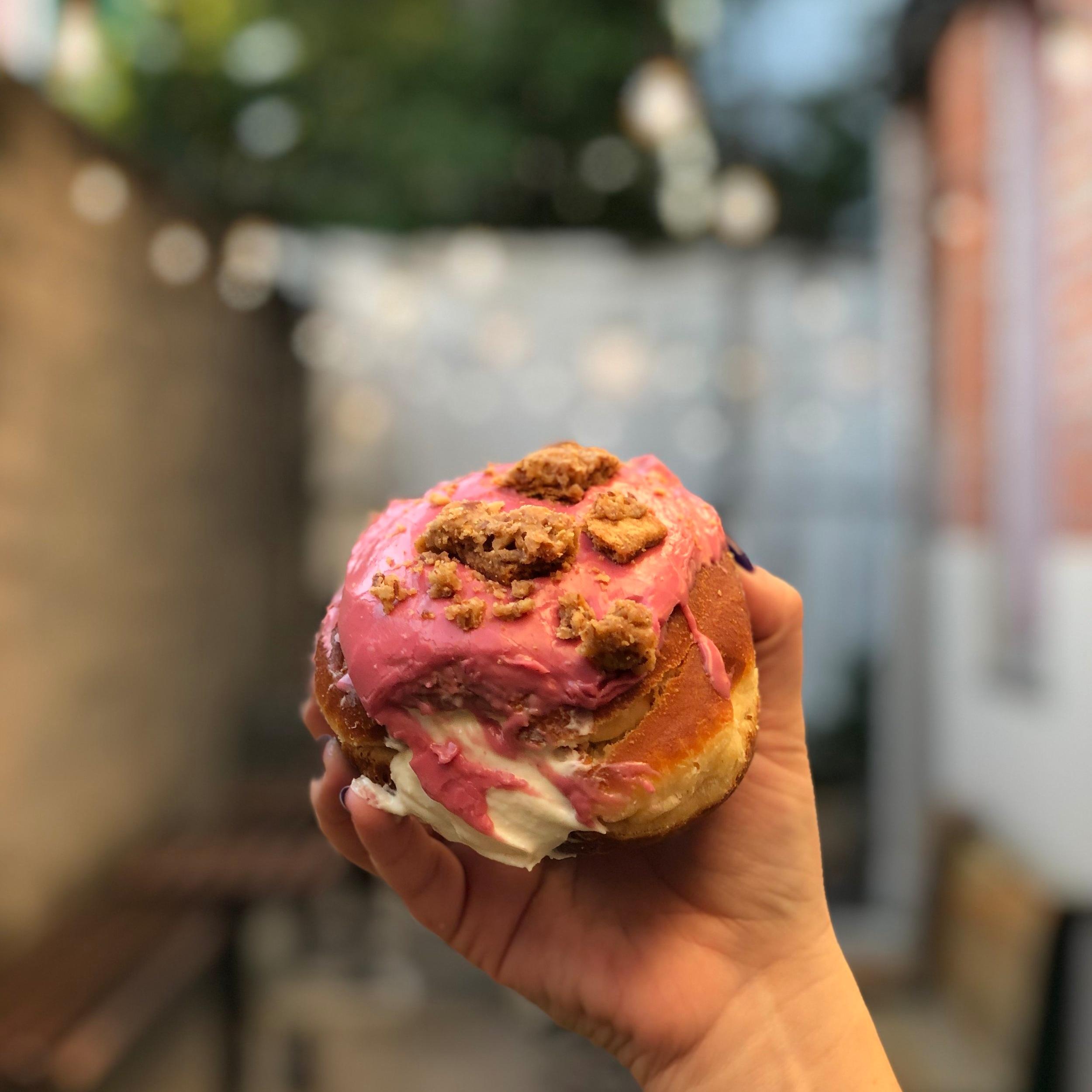 Raspberry Cheesecake donut