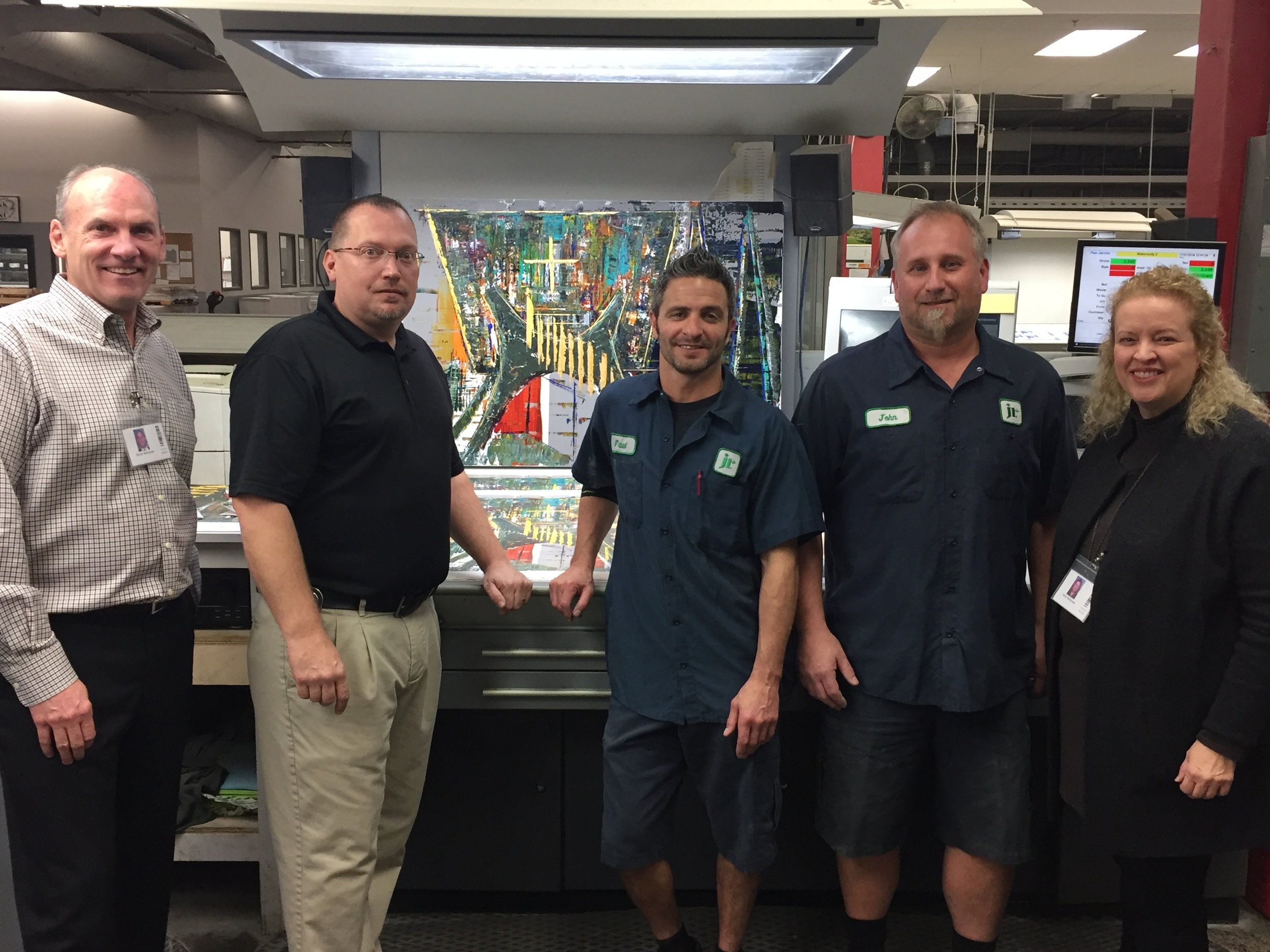 What a pleasure it was to work with the printing team at John Robert's Company.