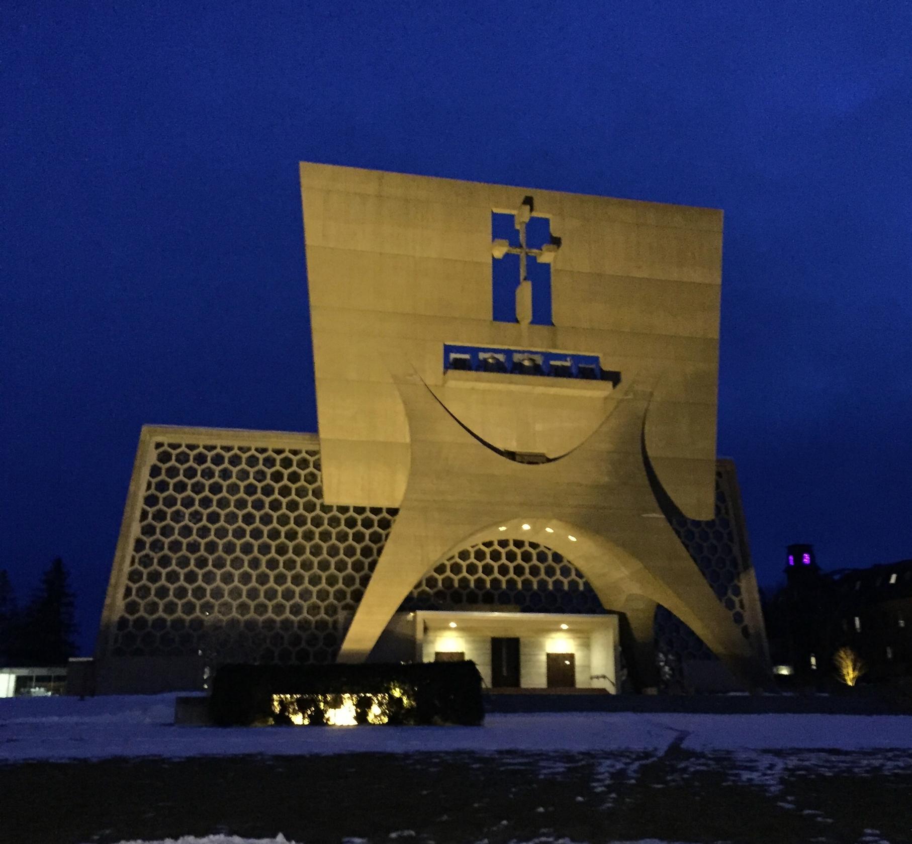 Saint John's Abbey Church. Designed by Marcel Breuer.