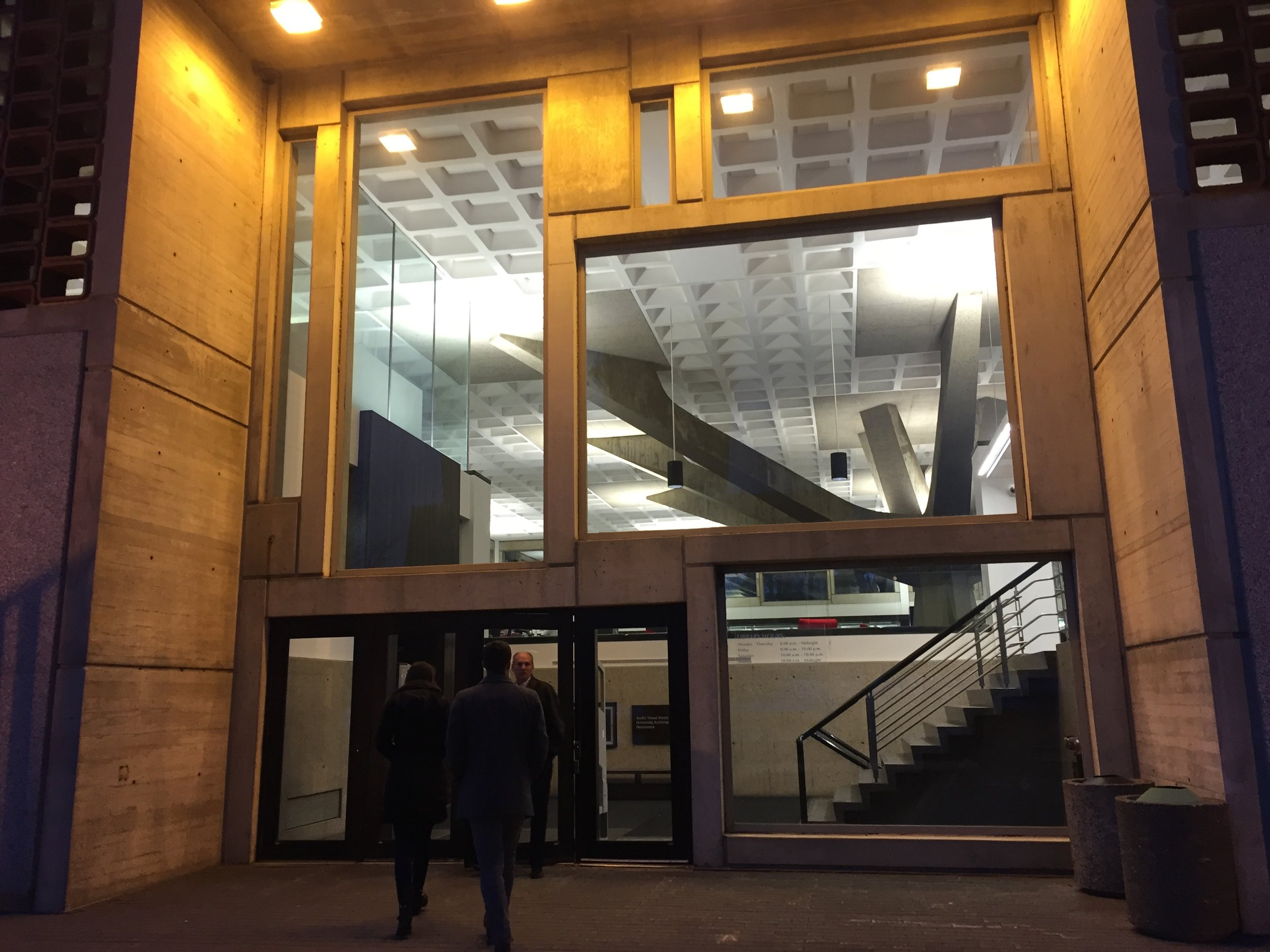 The new entrance to the Alcuin Library. Check out the fantastic new windows!