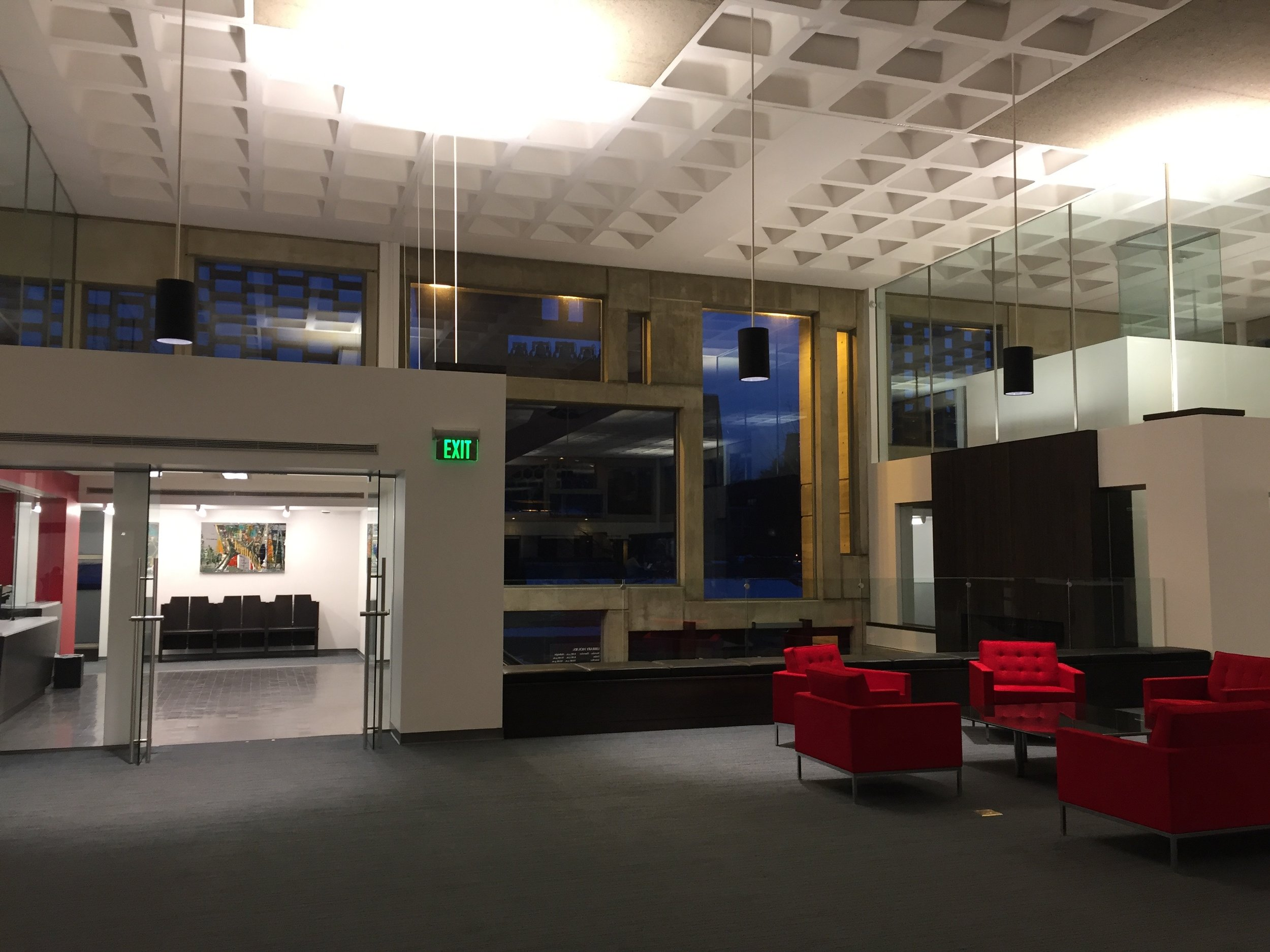 The interior of the library is a designers dream and a learners dream to learn in!