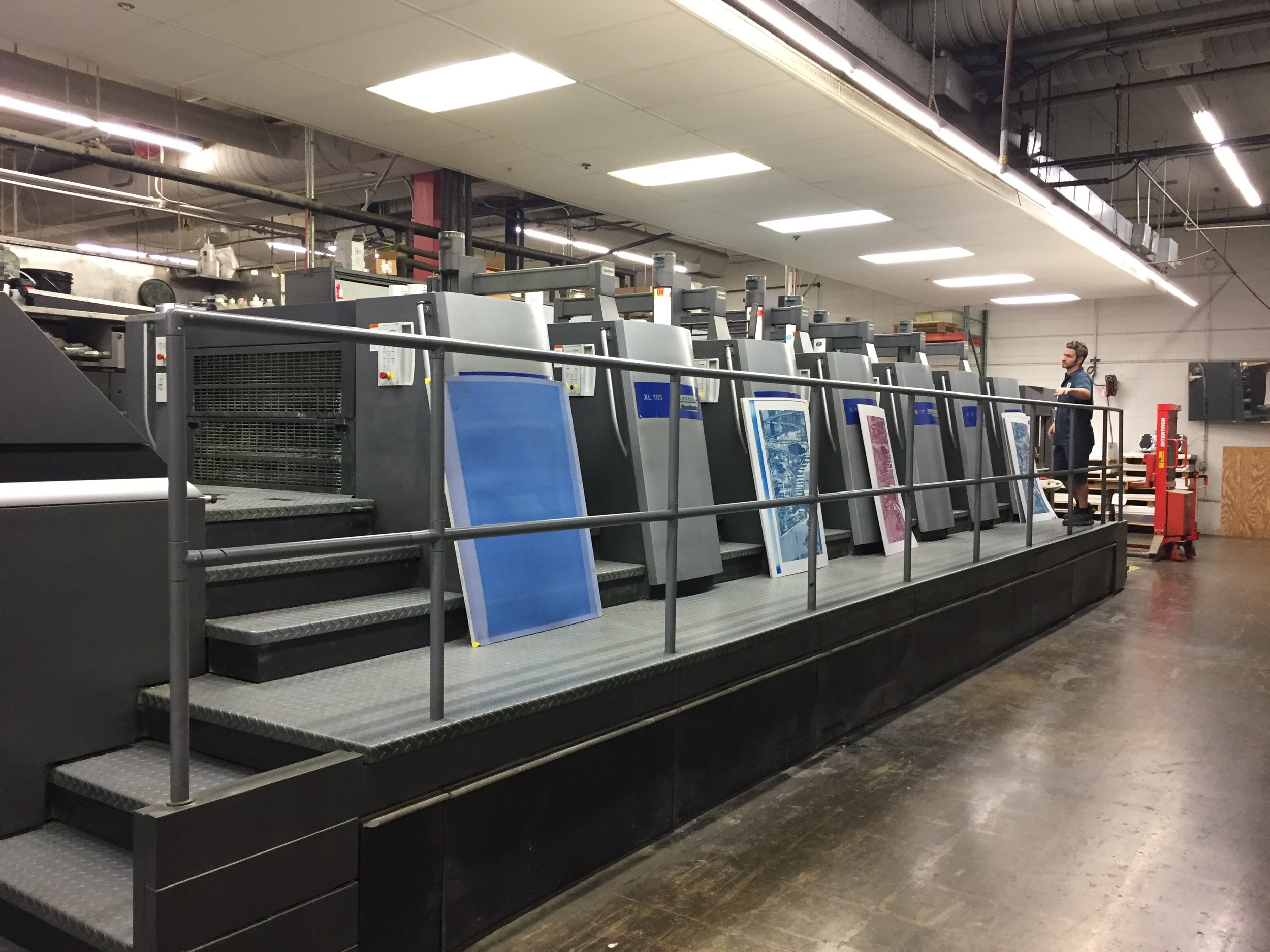 The Heidelberg Press we printed on. Super fun to learn so much! And the name kind of has a ring to it lol ;-)