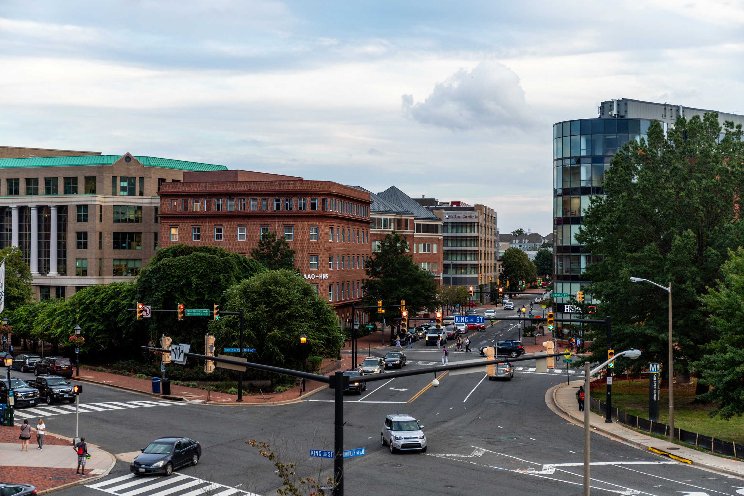 View from King St Metro Station (Alexandria, VA)