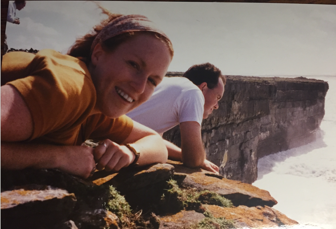 "That's me on the Aran Islands off the coast of Galway in September of 1999 and yes, I am wearing the ""magic scarf."""