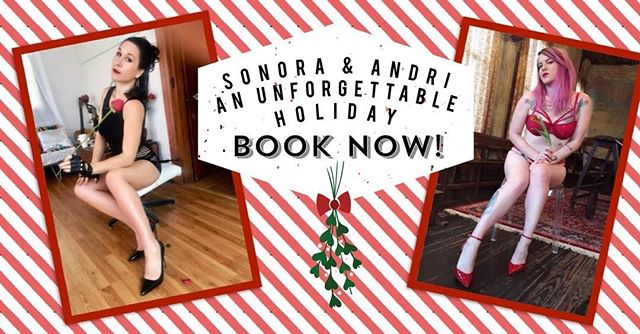 Sugar and spice and all that's naughty AND nice. Book me and @andriwinters together to warm up your holiday season! 💚❤️💚❤️💚 #kinkychicks #slutsofinstagram #holidaze