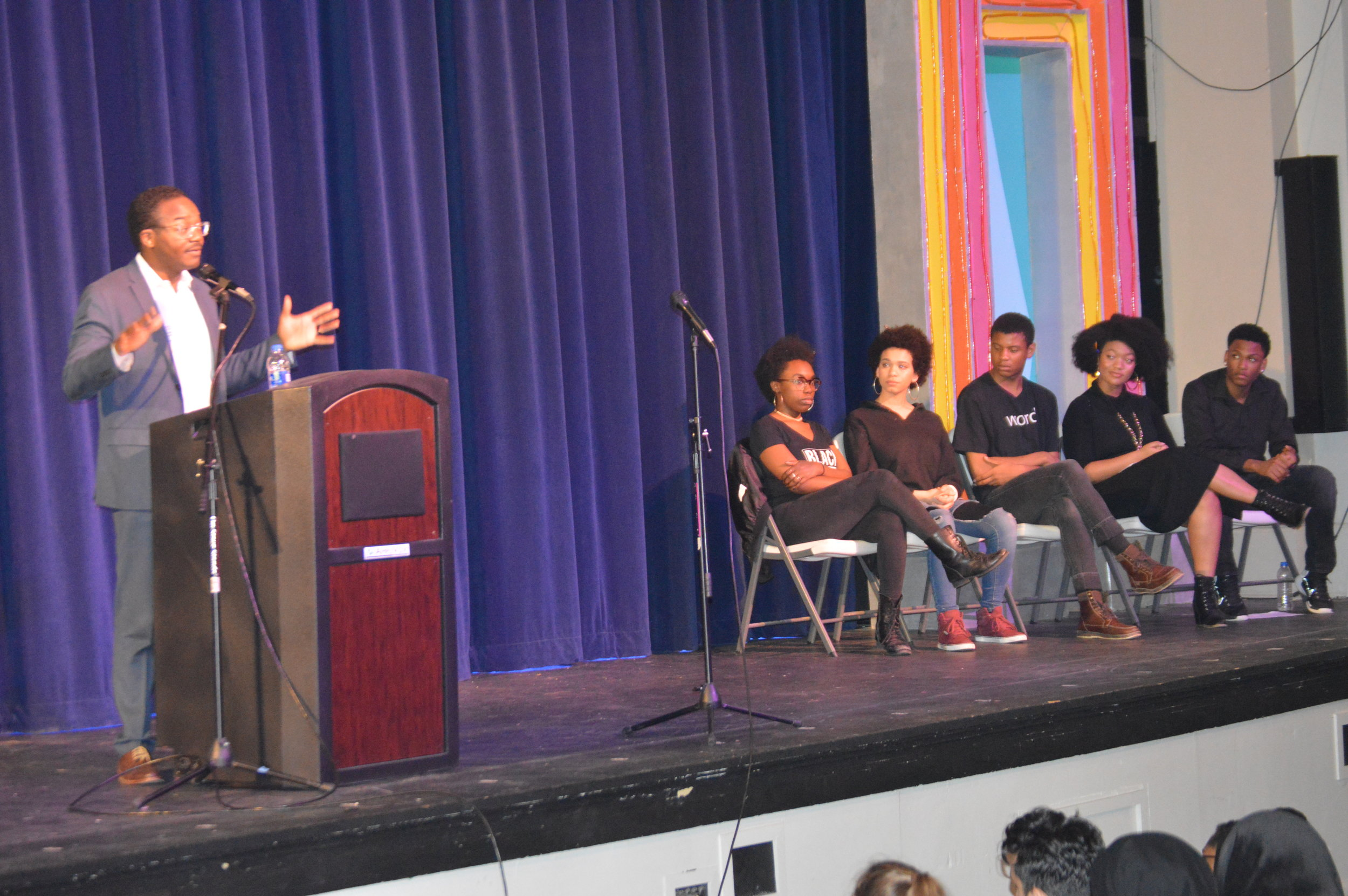 Featured Keynote at Black History Assembly at Hume-Fogg Academic