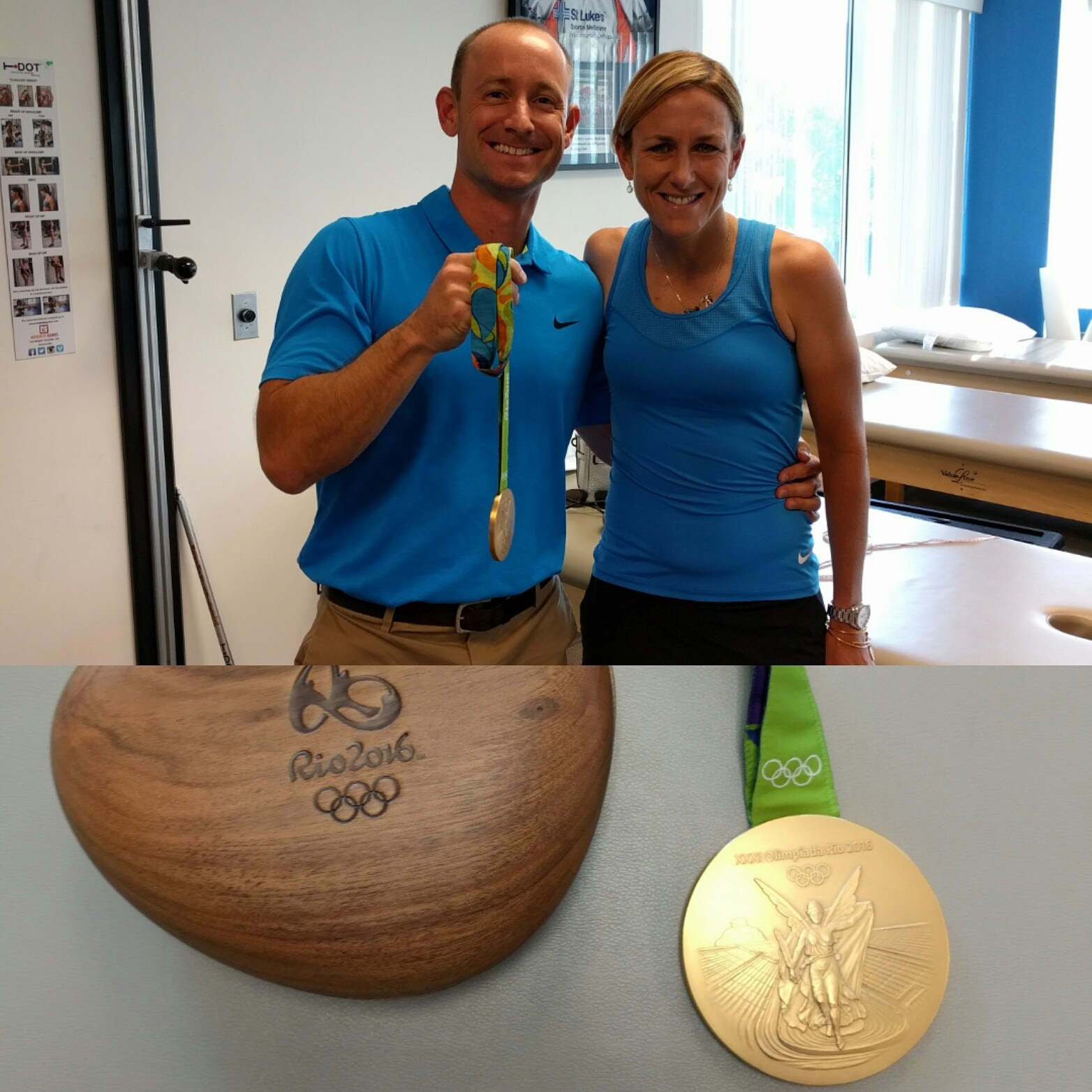 Celebrating Kristin Armstrong's 3rd straight gold medal