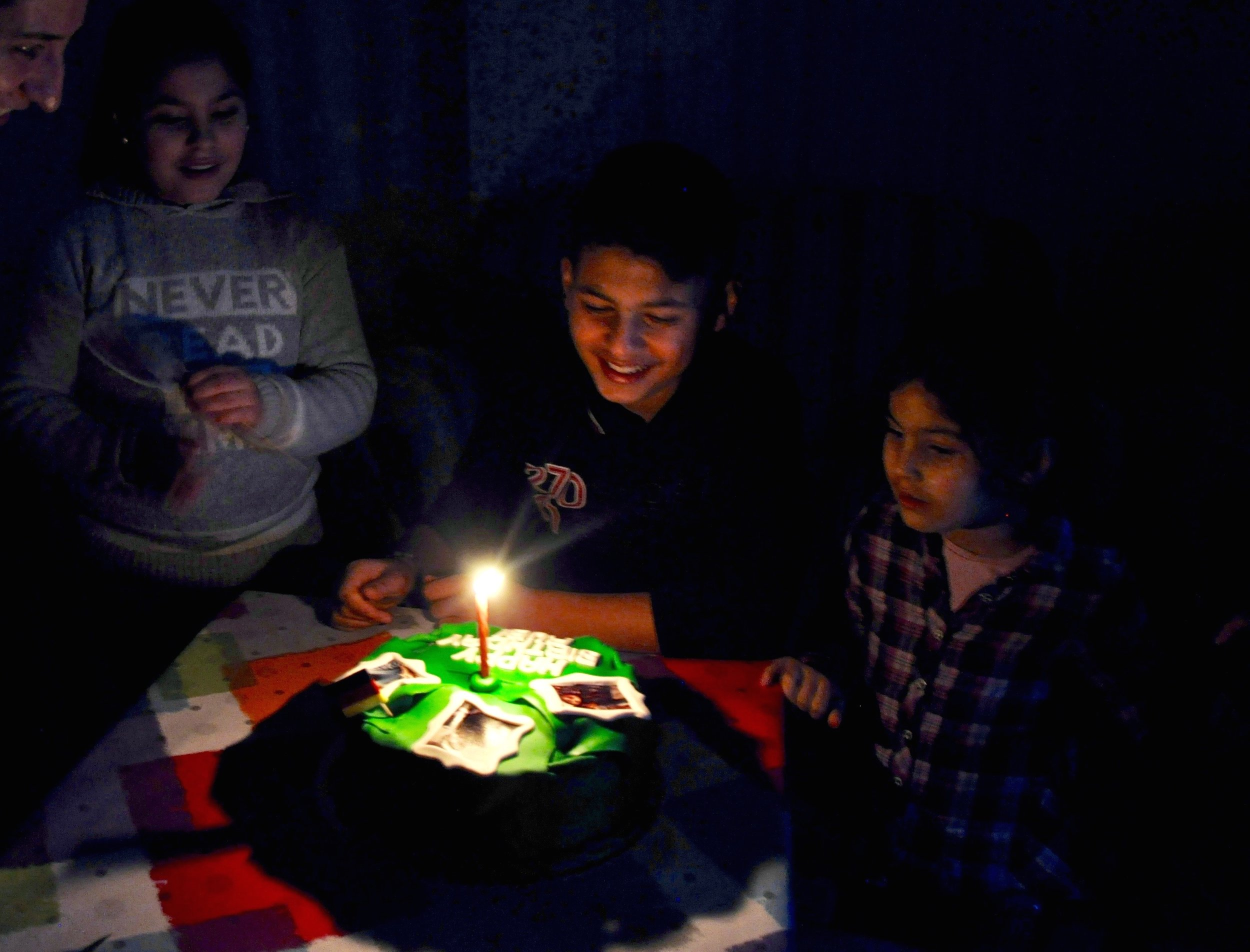 The Sheikho kids celebrate Rubi's 13th birthday. (Photo by Lauren Bohn)