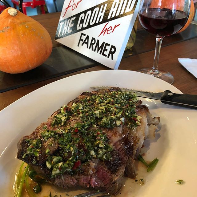Because...I'm borderline hangry! And I love The Cook and Her Farmer's ribeye with chimichurri! #yum #cheflife #oakland