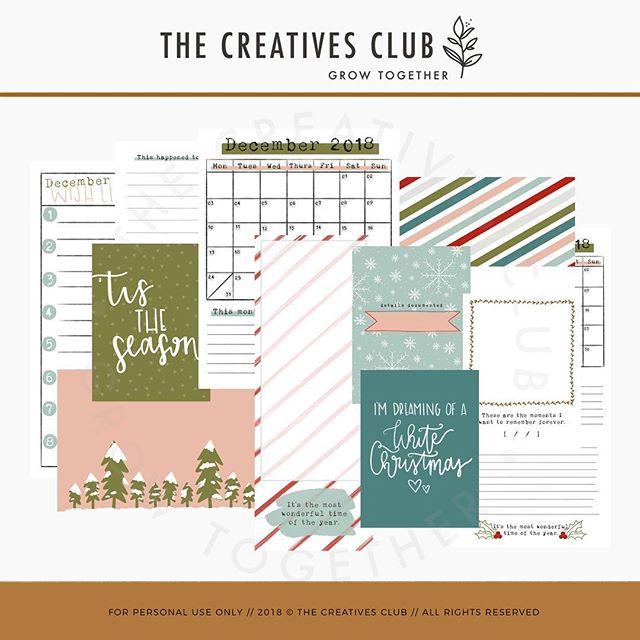 New digital winter goodies are available in the shop! 🎉 Plus, an exclusive coordinating download for free in the Facebook group! Click the link in our bio to shop and join the group! 👍🏼 #thecreativesclub