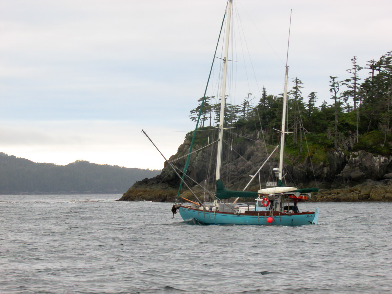 I've spent every summer of my life on the ocean. Here I am in 2016, fishing my power troller the Lena along the outer coast of Prince of Wales island.