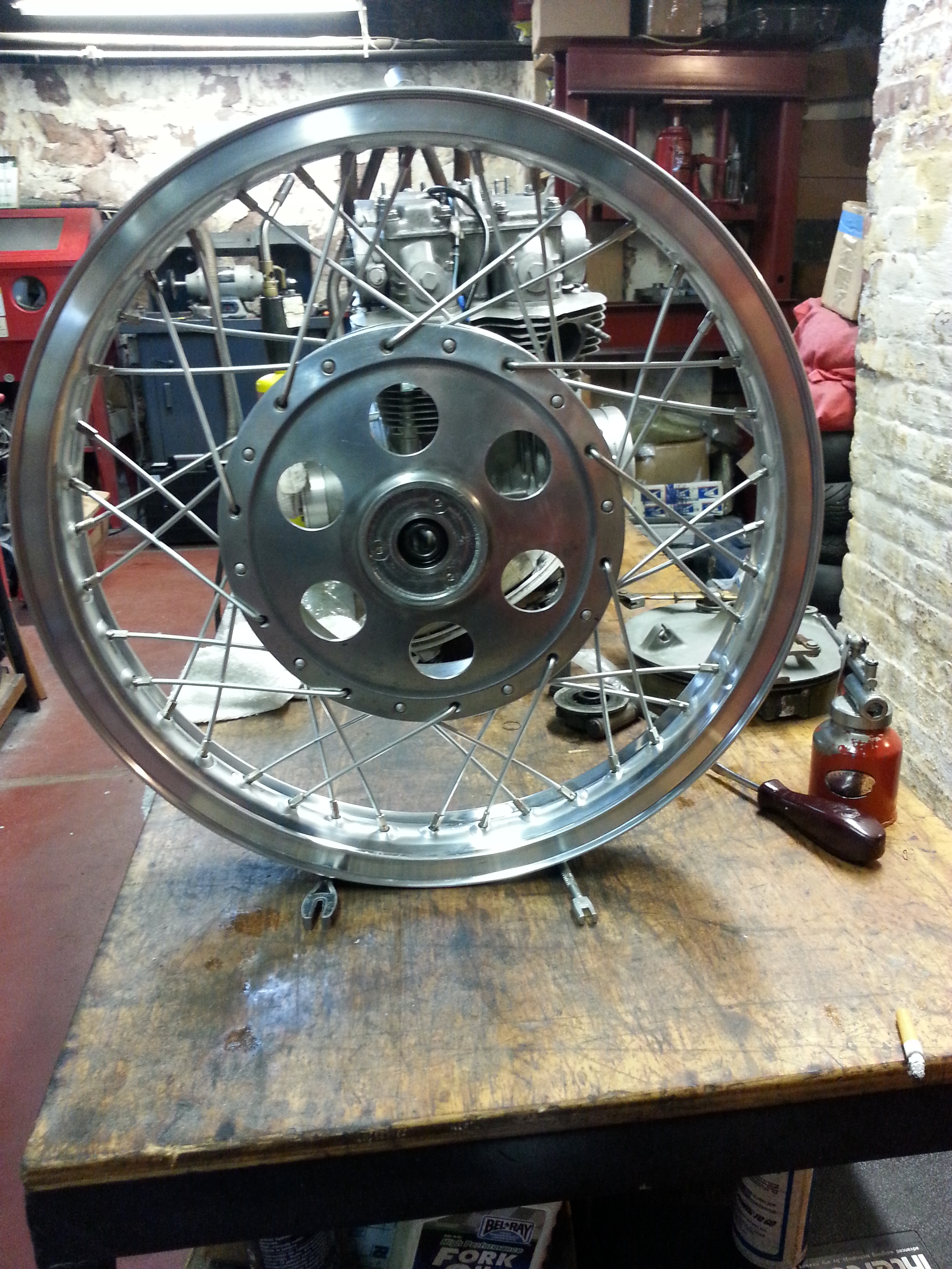 Completed wheel ready for tire