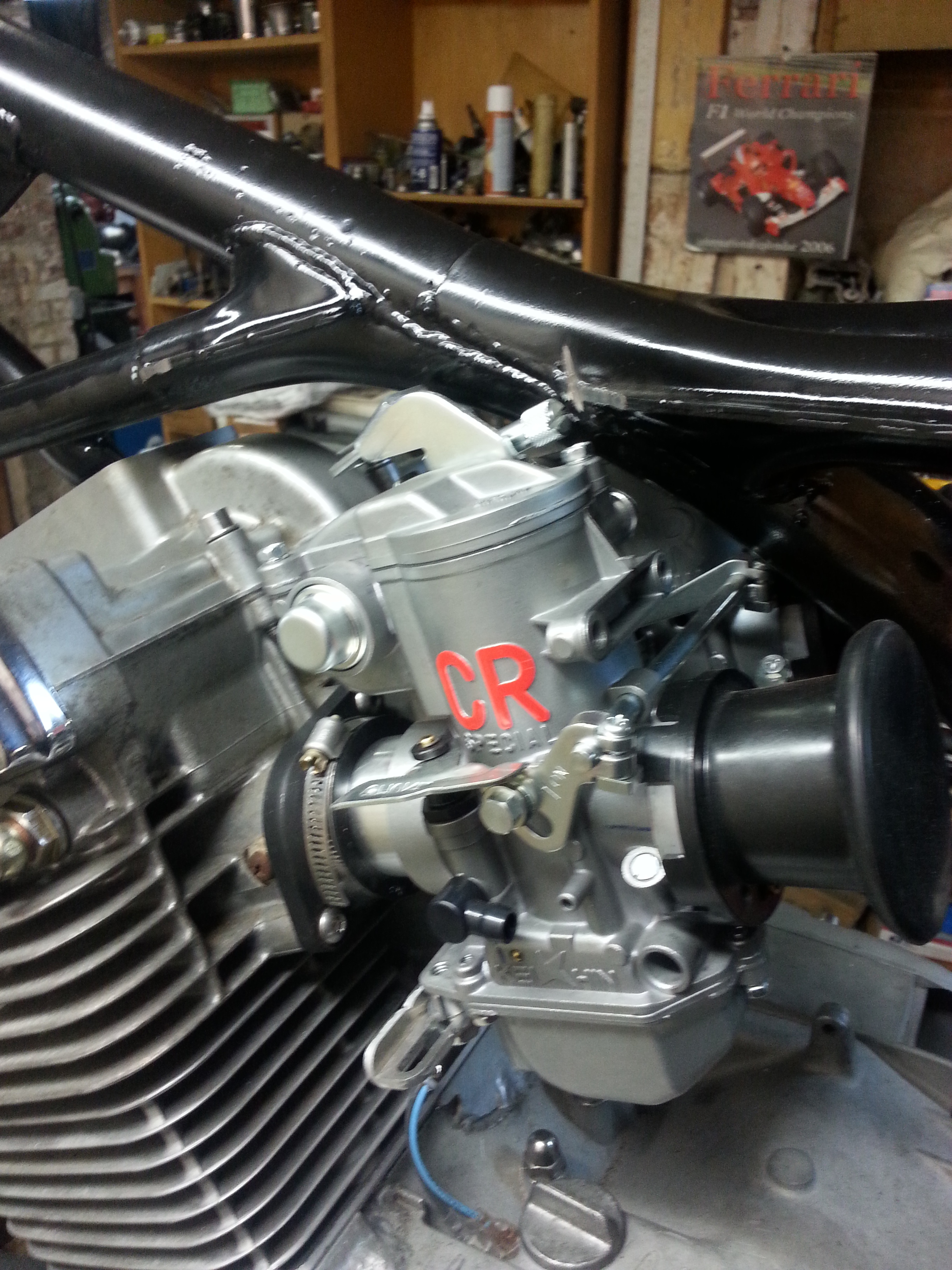 New CR Carburetors fitted for maximum performance