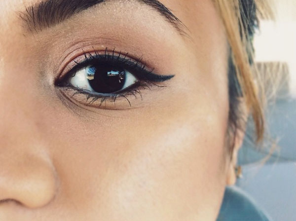 From my  Instagram , back in April, asking if anyone had any tips on working with the LBD liner. It took forever to get it to look like this.