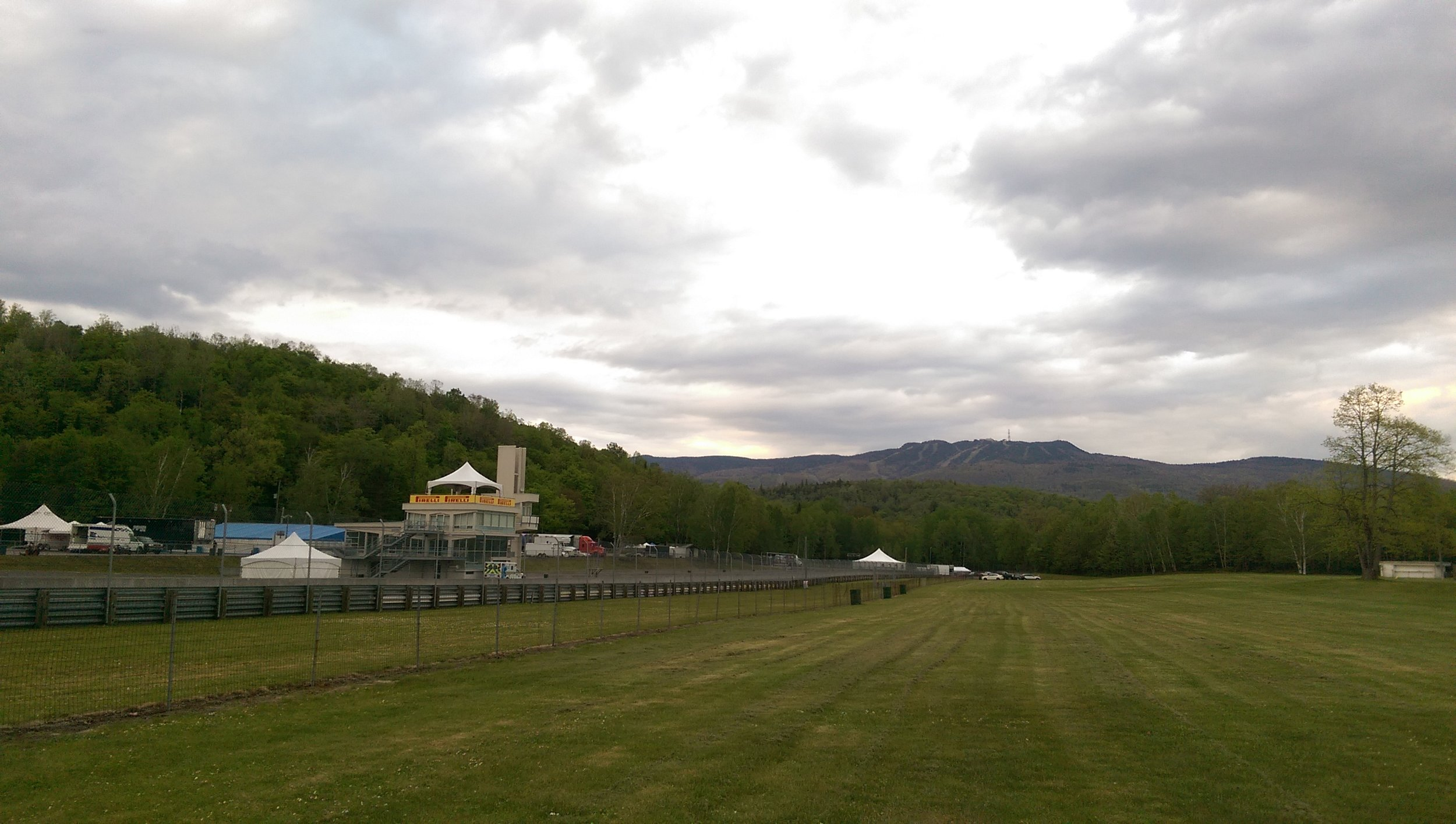 Circuit Mont-Tremblant is set amongst the foothills of Mont-Tremblant (pictured in the distance)