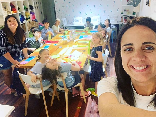 It's good to be back at the #craftdshanghai studio! Lots of fun during rainbow camp and lots more fun to come!