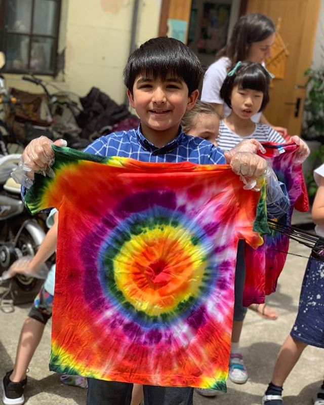 The kids did such a great job with their tie dye designs! A great way to end a week full of color!