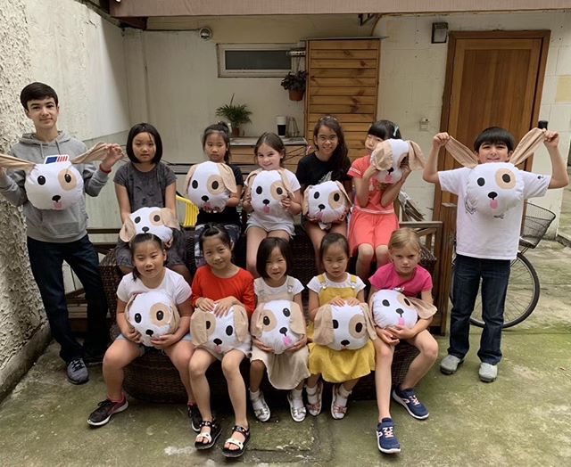 🐶 unintentionally the dog plushies the kids made at Pets camp yesterday look almost identical to the dog emoji 🐶 haha! They all did a fabulous job, with 6 of them being brand new to sewing! Well done campers!
