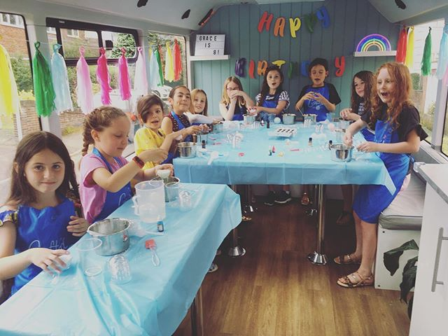 Thank you Grace for celebrating your 8th birthday on the Craft'd bus! Lots of happy bath bomb makers!