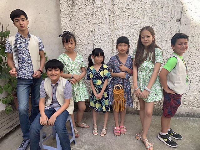 #craftdshanghai  So so proud of our project runway girls and boys! 💕the girls made their own wrap dress and the boys the smart waistcoat! Plus don't you love those mini macrame cross-over bags!