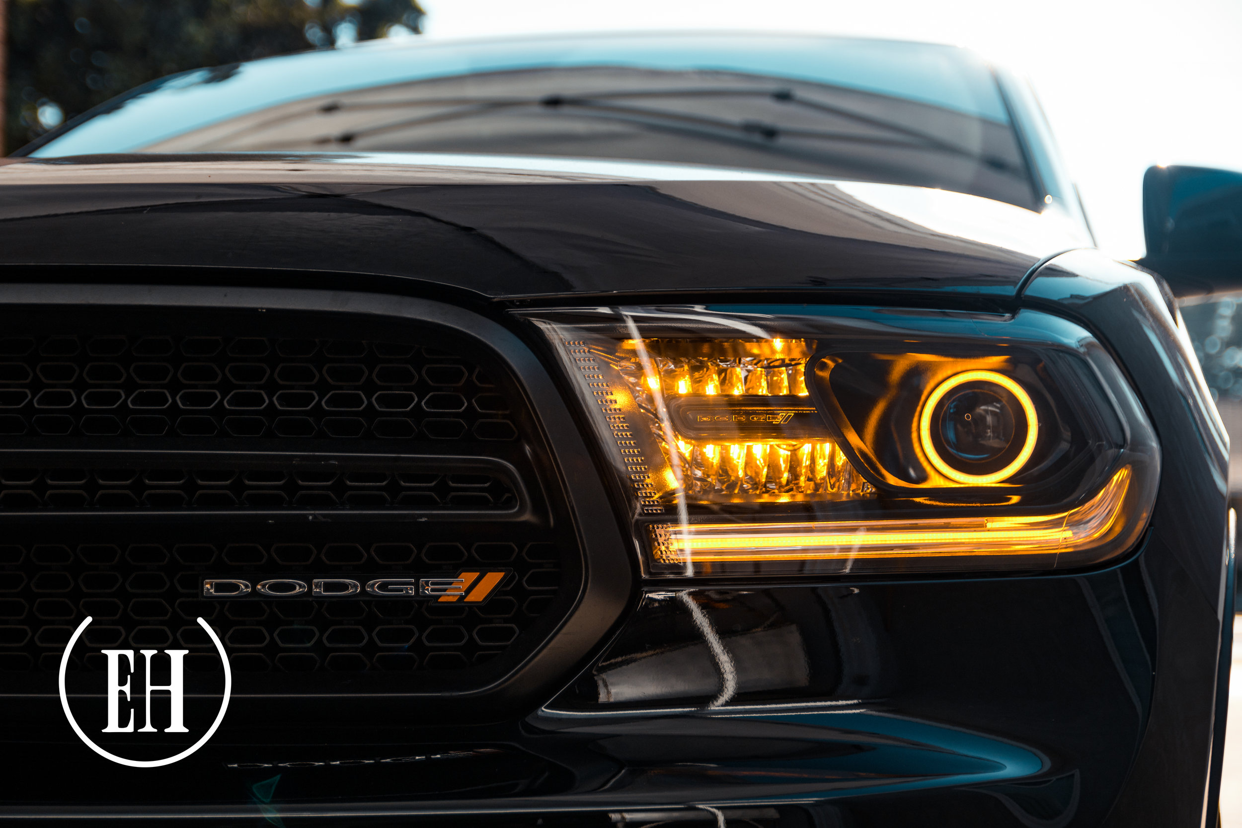Dodge Durango Black Evil Headlights Custom Retrofitting Service In Southern California