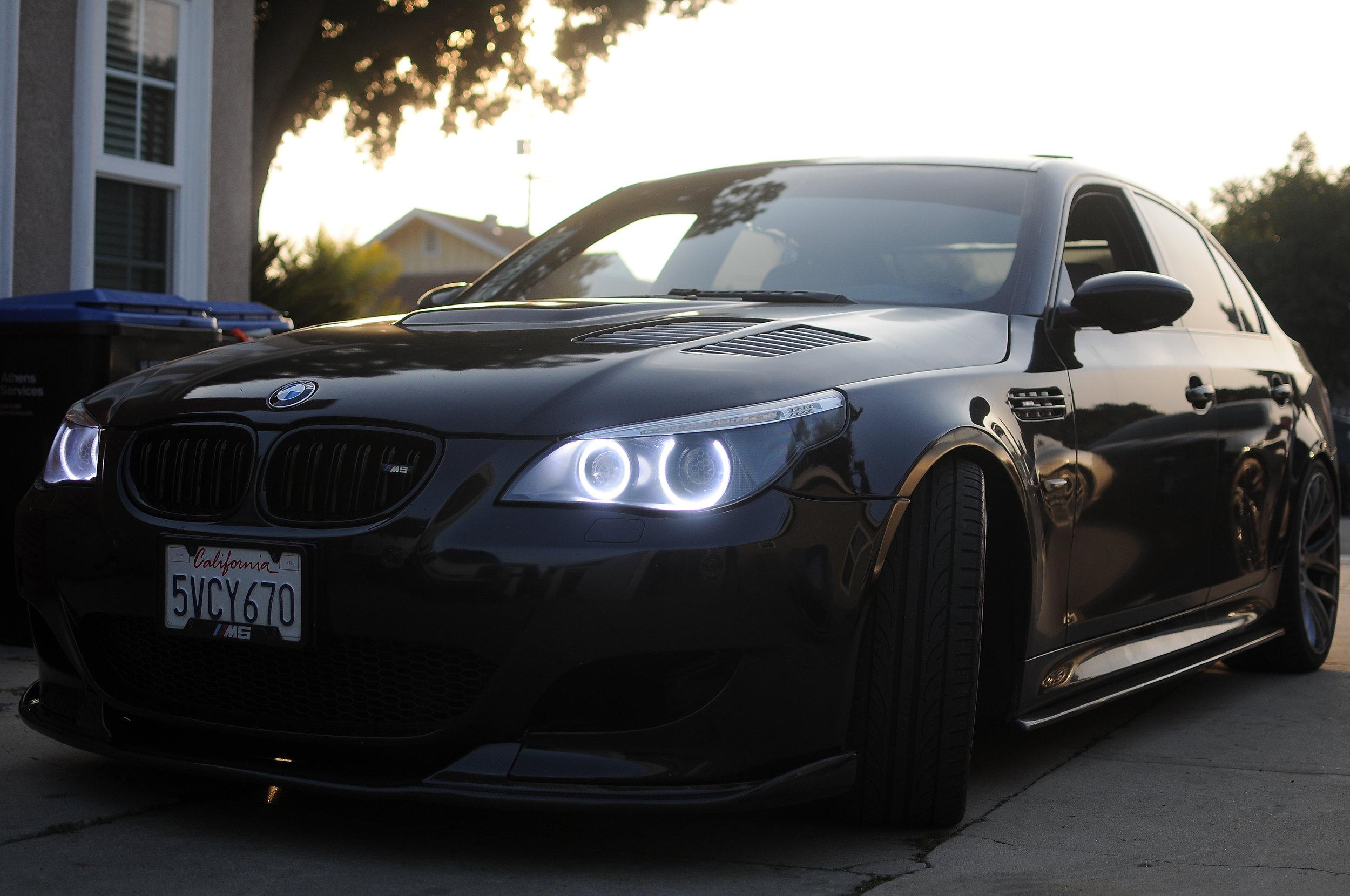 Bmw M5 E60 Metallic Black Evil Headlights Custom Retrofitting Service In Southern California