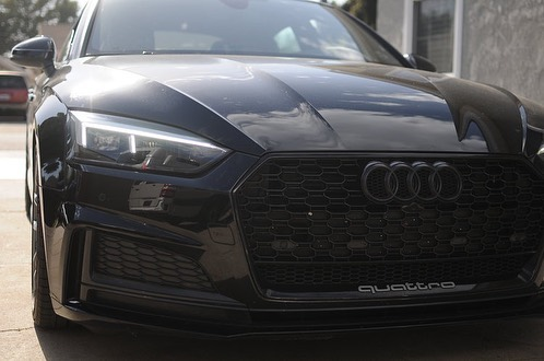 Who's a fan of the new Audi LED headlights? We are! They don't need much. Just a little touch of paint and bam! What a beauty.  To view more of this build go to our website and check out our gallery 😈 Link is in the bio!  #audi #s5 #rs5 #4ringlyfe #euro #eurospec #led #evilheadlights