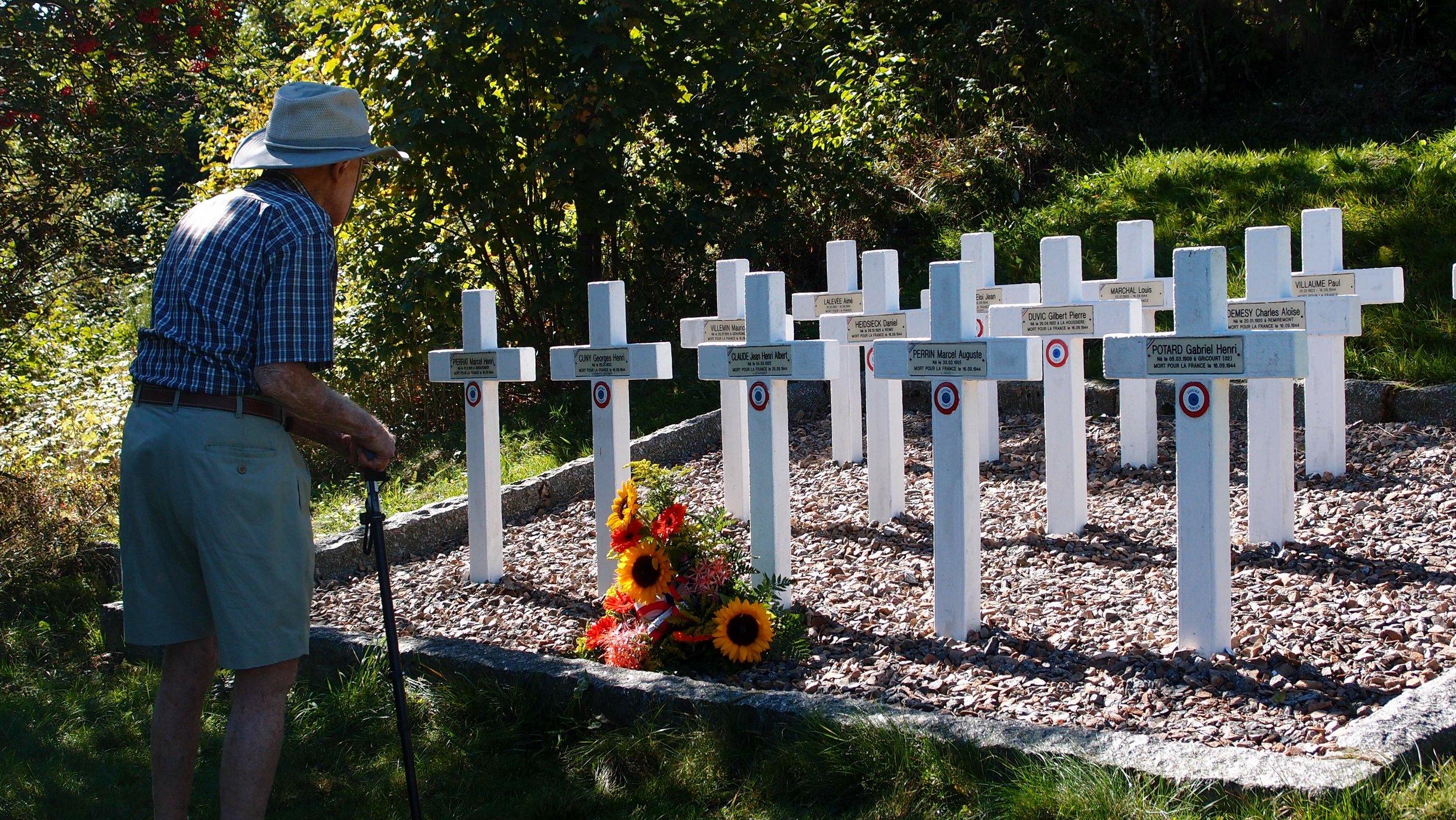 Barney at Maquis Memorial.jpg