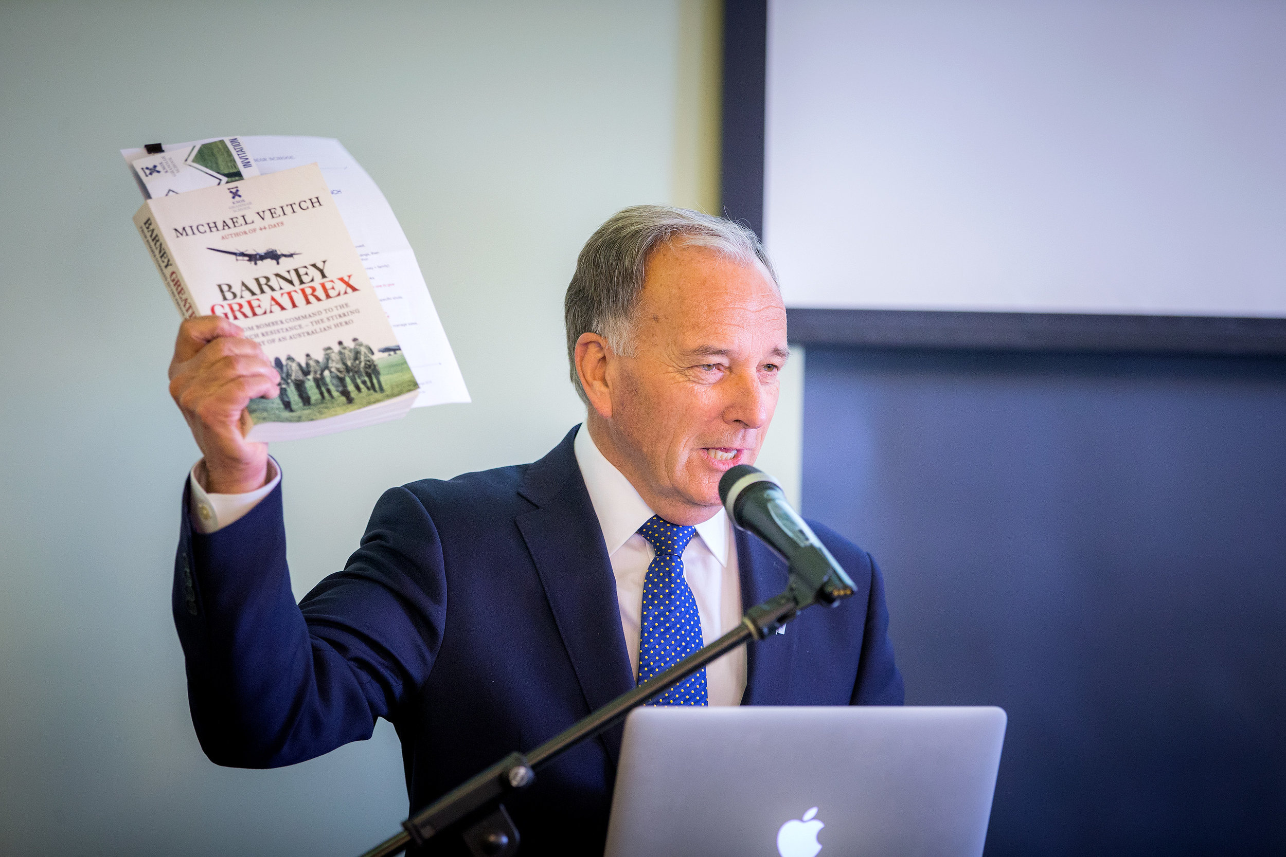 John Weeks launching the book.
