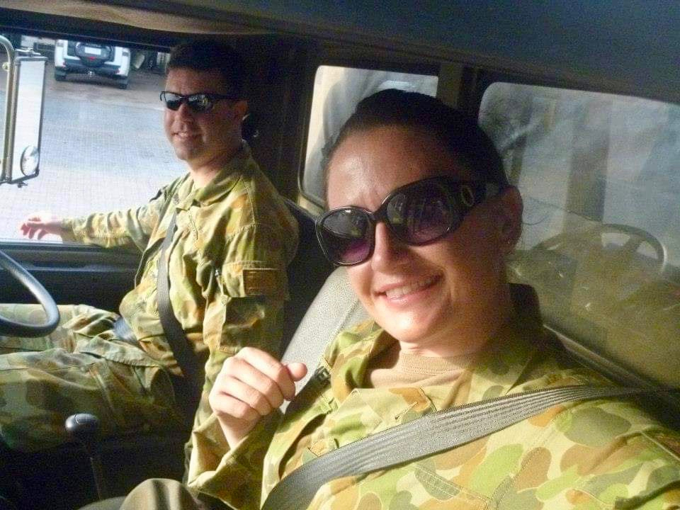 PIC 11    2012 – ROBINSON BARRACKS (DARWIN) – Force Preparation with 1CSR before deploying to the Middle East – me learning how to drive an any truck…..for emergency purposes.jpg