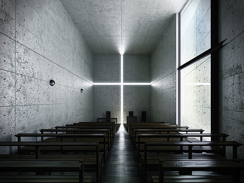 the church of light by Tadao Ando (not my picture)