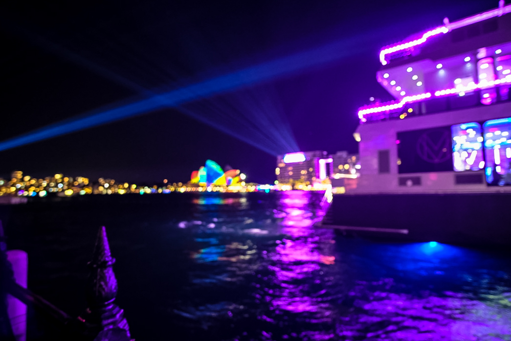the Opera House lit up in full glory