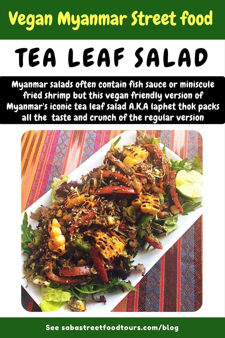 Myanmar vegan recipe: tea leaf salad (laphet tho)