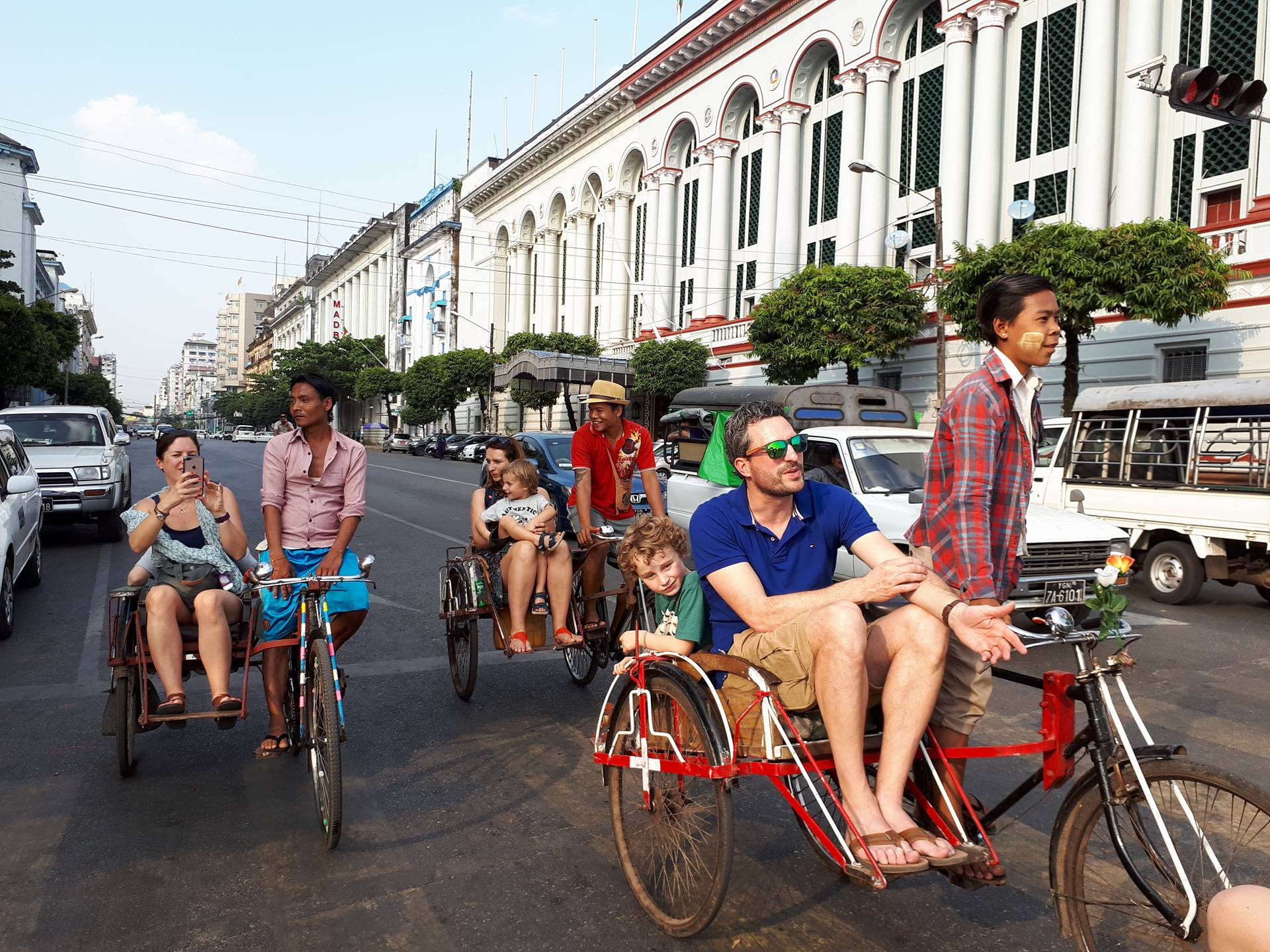 Yangon by tri-shaw on our day tours