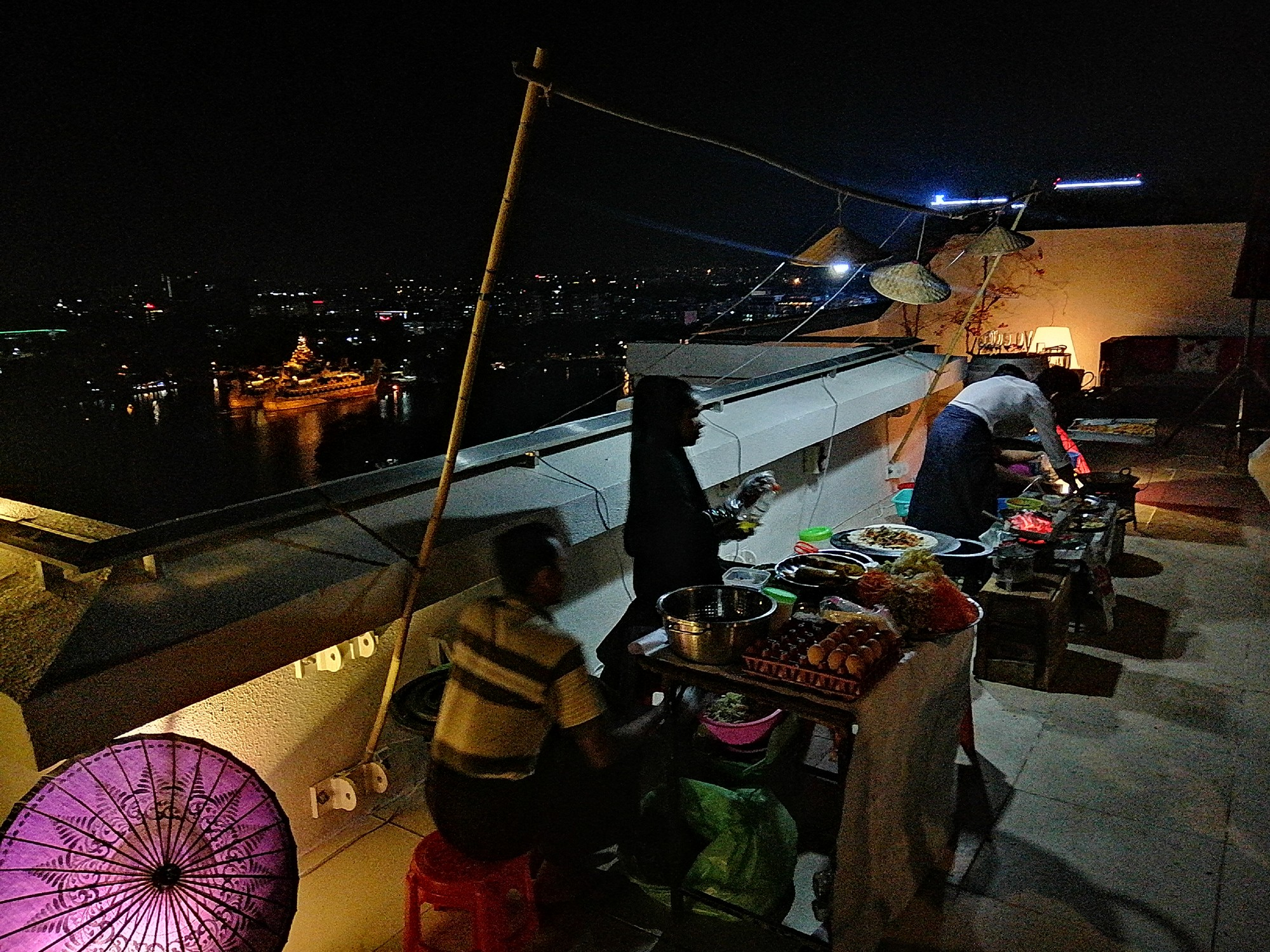 Street food catering in Yangon for roof top parties