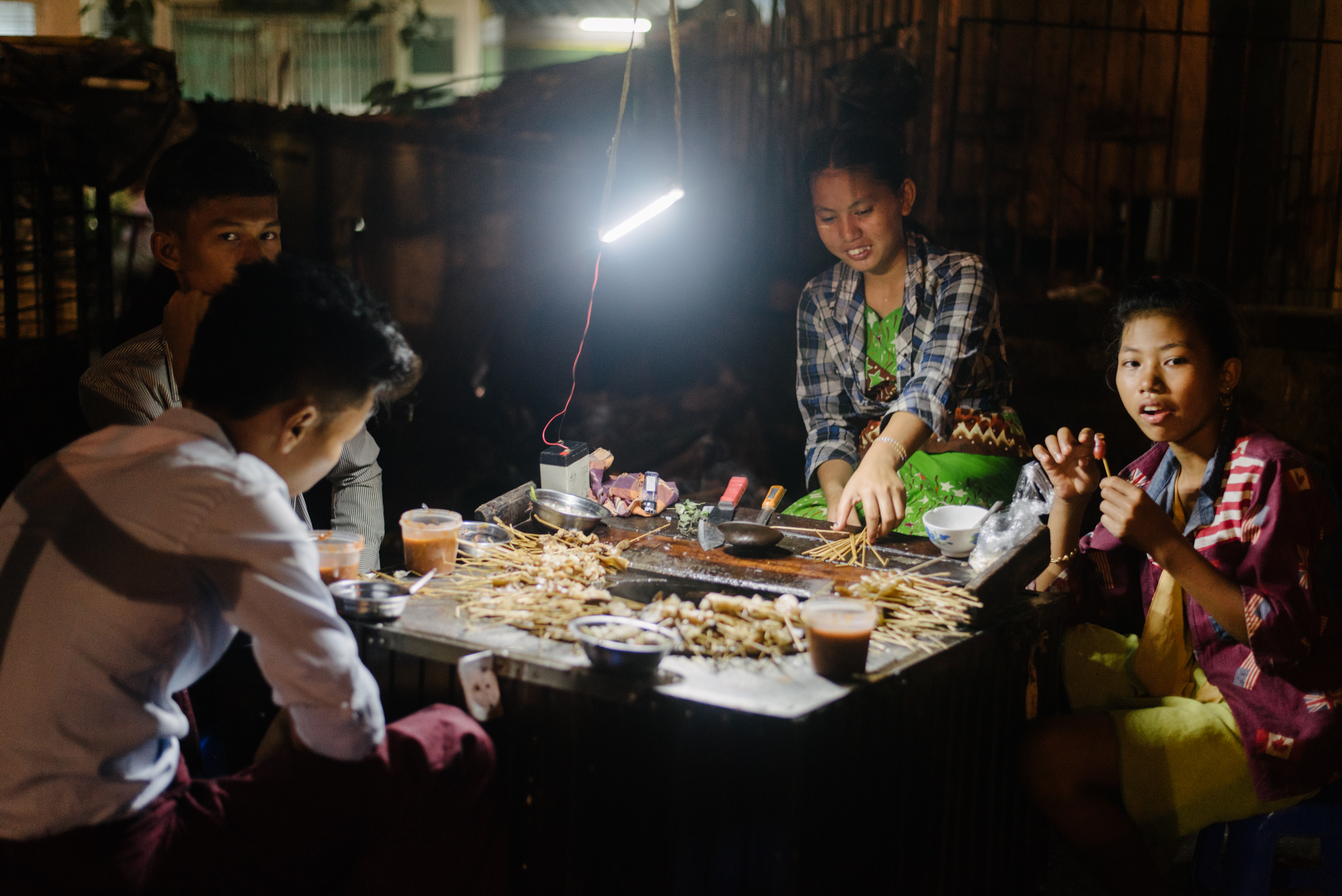 Yangon Food Tour in the evening