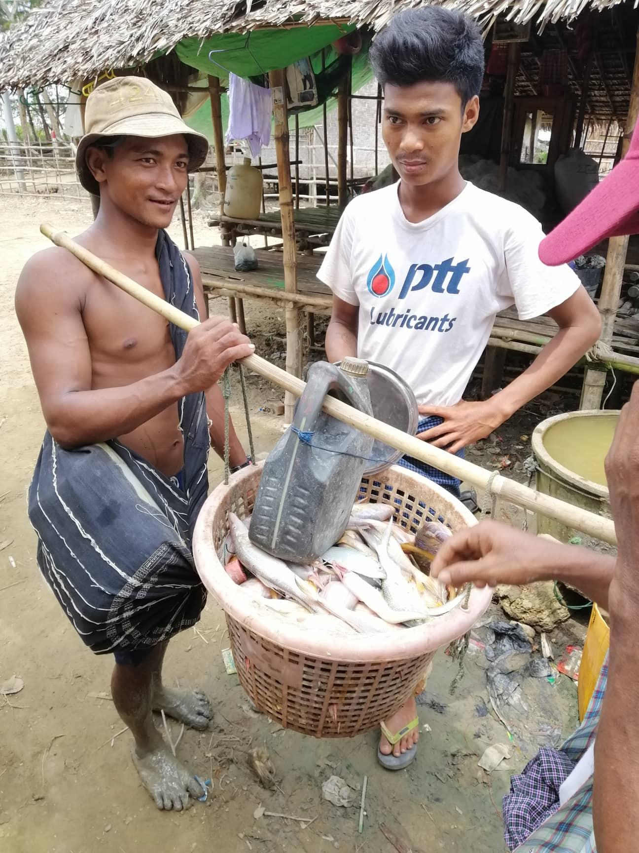 Fishing at Yangon's closest beach